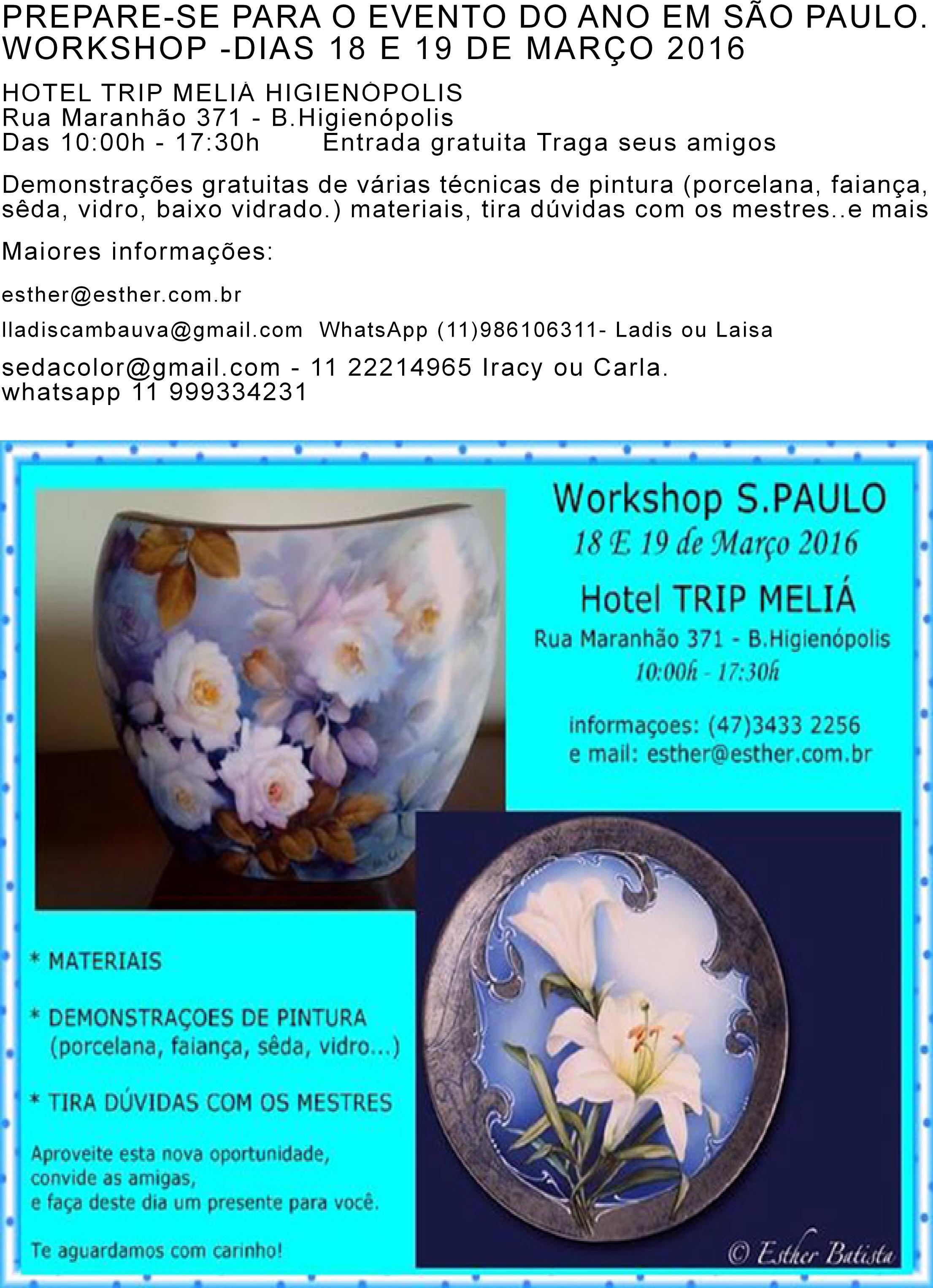Workshop 18 e 19 de março de 2016