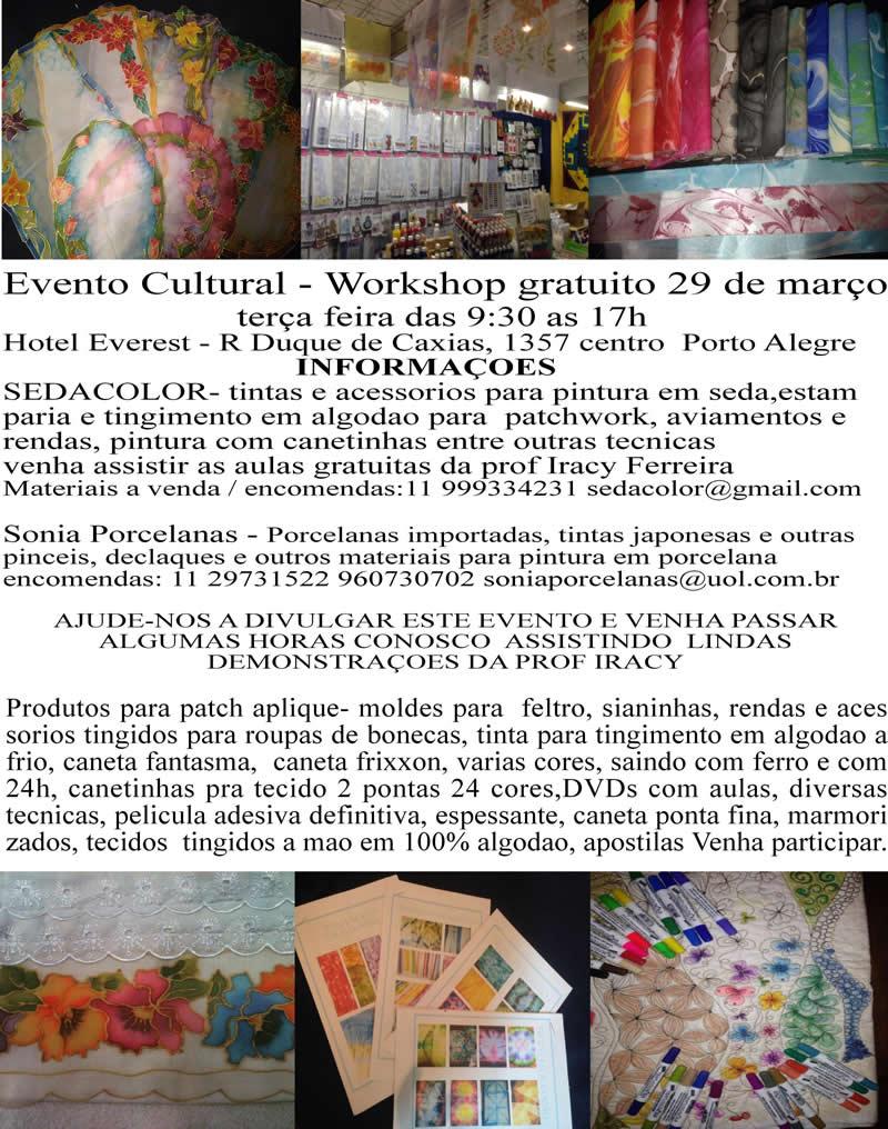 Evento Cultural Workshop Gratuito – 29 de março